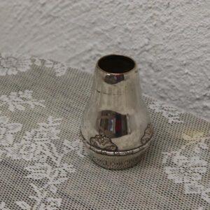 Sølvvase 2 tårne - Ø6,5x9 cm