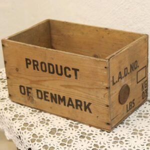 Naturfarvet kasse Products of Denmark - Cheese 36x22x21 cm