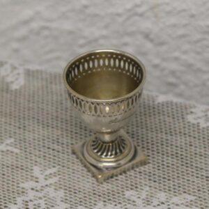 Sølvplet æggebæger - Gunnar - graveret Ø4,5x6 cm