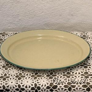 Emalje creme fad - ovalt 40x32x 4 cm - No Name -