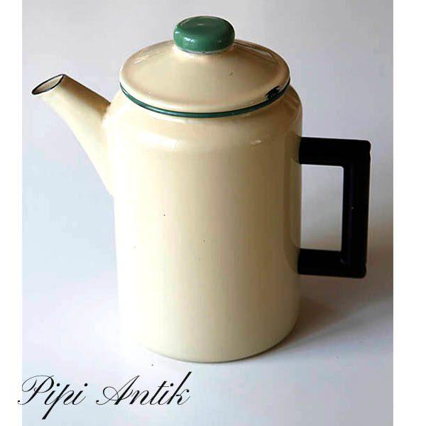 Emalje creme kockums kaffekande Ø12x22 - 2 liters