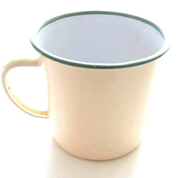 Emalje creme kop - Made in China - Ø 12 x 11 cm
