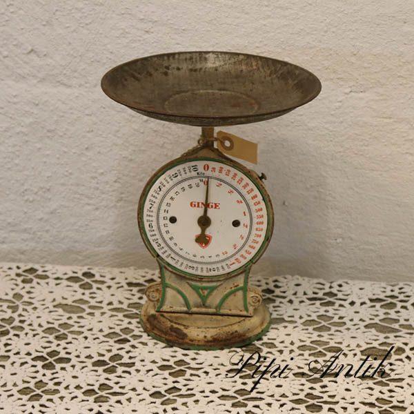 Emalje vægt - creme - Ø22x26 cm - Ginge
