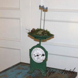 Grøn vægt - Ø22x34 cm Gloria 10 kg som juledekoration