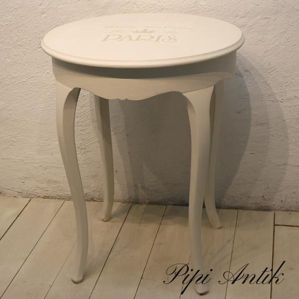 Old white bord lette ben Ø60×78 cm H - Annie Sloan Chalk Paint