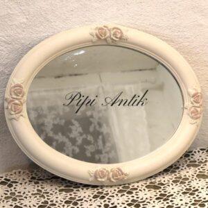Romantisk spejl i hvidt og Antoinette49x39x4,5 cm - nyere