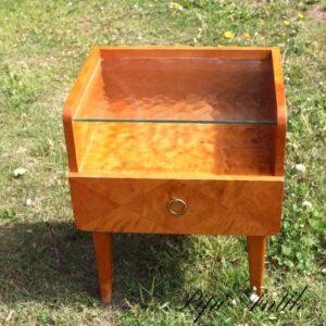 Retro natbord med glasplade 44x33x52 cm