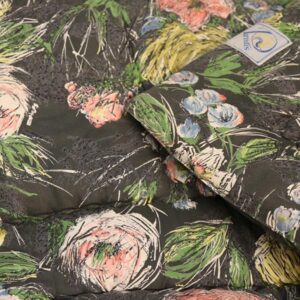 Vatteret romantisk art deco stil tæppe - 154x197 cm x 3 cm tykt