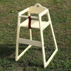Creme gul høj barnestol ryghøjde 78 x 54 cm siddehøjde