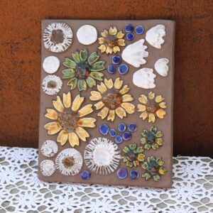 JIE Svensk keramik billede 769 - blomster 29x23x2 cm