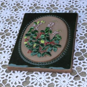 JIE Svensk keramik blomst billede 18x22 cm