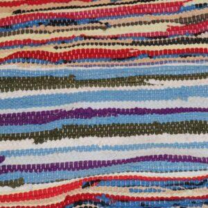 04 Kluddetæppe blå og rødline striber 56x112 cm