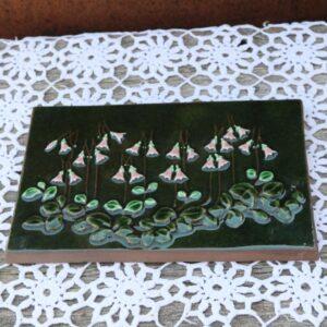 JIE Svensk keramik billede - klokkeblomster 24x15,5 cm