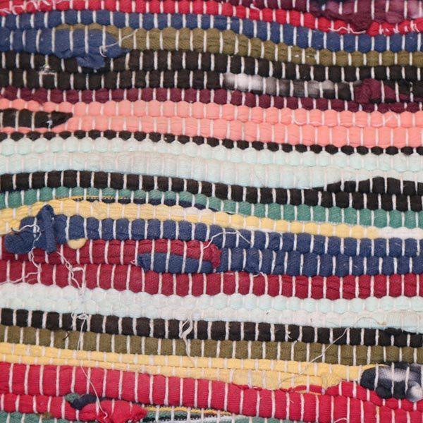 06 Kluddetæppe - multifarvet og rødlige 60x134 cm