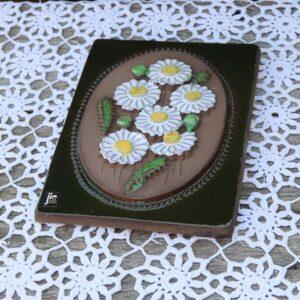 JIE Svensk keramik billede - Margueritter - 17x22 cm H