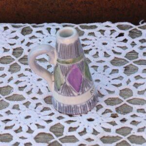 Guldsmeden Hasleholm keramikvase - retro - Ø 2x9 cm