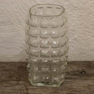 Retro glasvase - bobleagtigt - 10x10x20cm