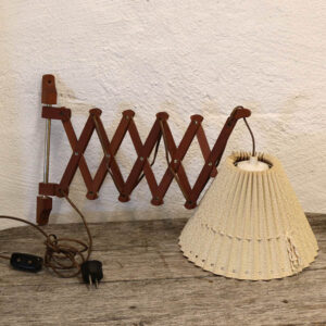 Teak saxe væglampe - svensk retro