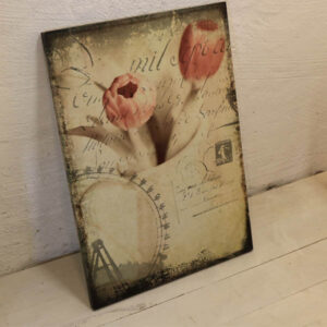 Billede - romantisk- tulipaner - nyere - 70x50 cm