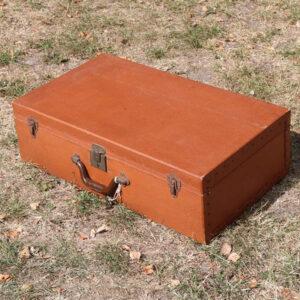 Kuffert - brun - papkuffert - 65x32x20 cm