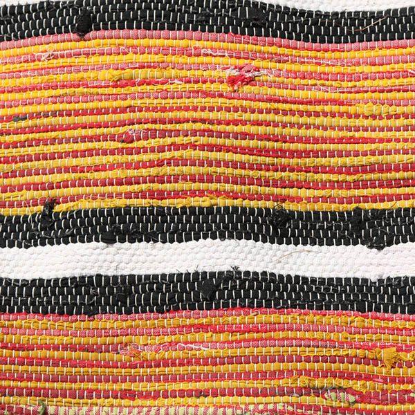 09 Kluddetæppe - orange sort hvid - 78x144 cm