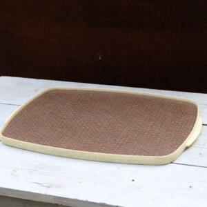 Retro plastik bakke - vendbar - brun og gråmeleret side 44x30,5x2 cm