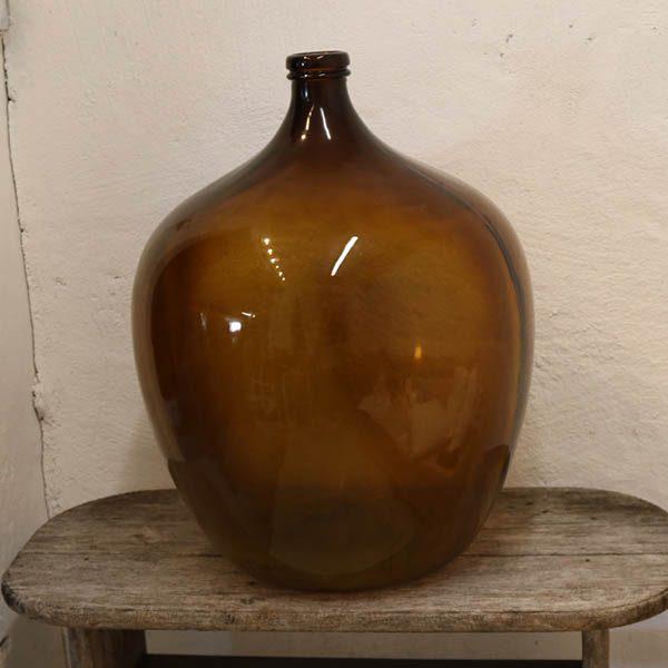 Brun tyk vinflaske 2,5 cm tyk - 64 cm H