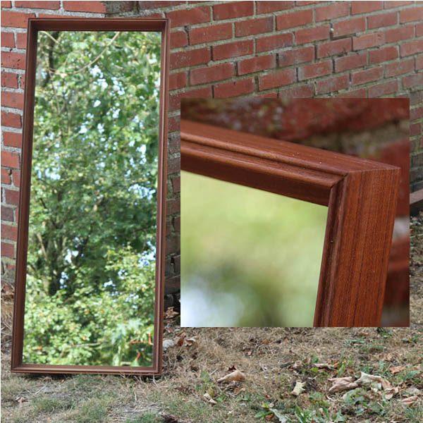 Teak spejl - robust - tung - 44x110x3 cm