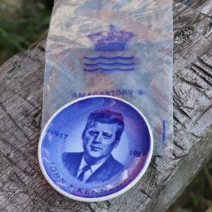 John F Kennedy platte med originalpose 1963