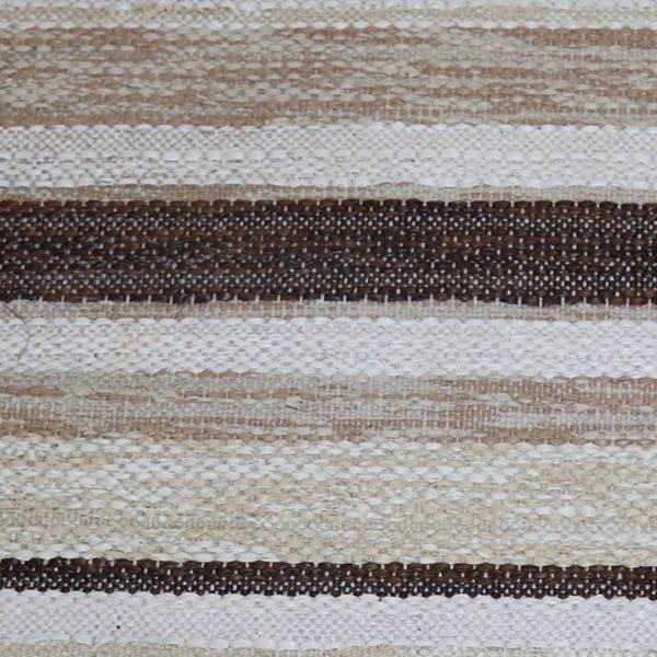 23 Kluddetæppe brun beige hvidt 57x277 cm