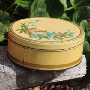 Kagedåse - creme - Ø22x8,5 cm