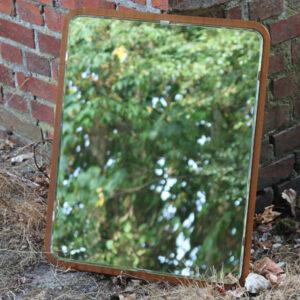 Teak spejl - retro - 46x58x1,5 cm