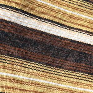 37 Retro siv kludetæppe - brunlig 181x65 cm