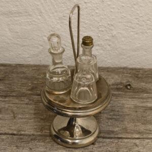 Sølvplet eddikesæt - kryderisæt til bordet Ø13 x 10 cm (u hank)