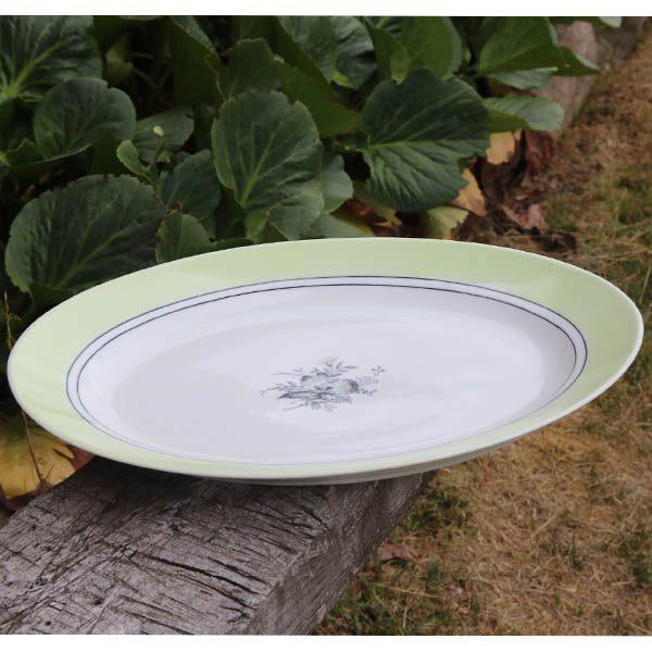 Stort fad B&G 643 40x29x5 cm mintgrøn hvid