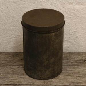 Metaldåse - patineret - Ø16x23 cm