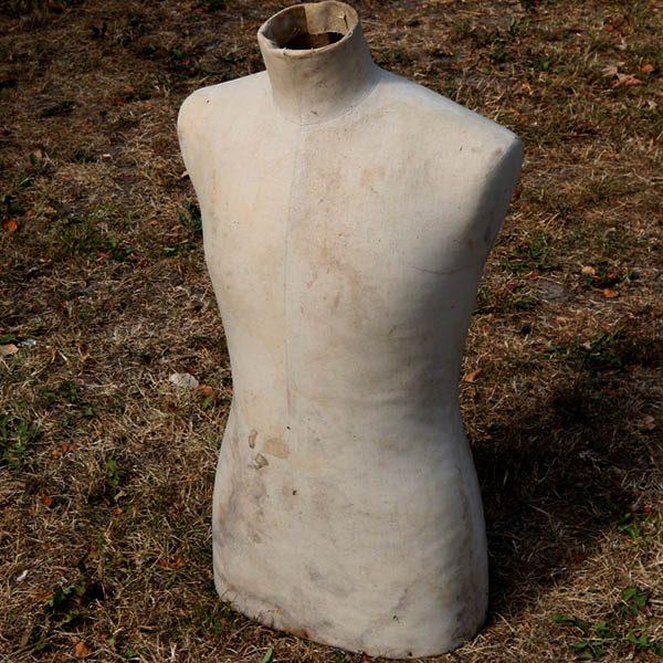 Gine - patineret - uden ben - 72 cm H