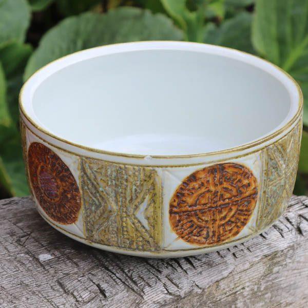 Aluminia retro keramikskål 519 3155 Denmark brunt oliven