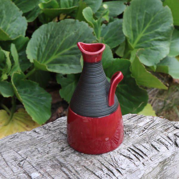 Rørstrand bordeaufarvet keramikvase Bahia Ø7x12 cm