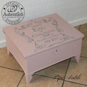 Lav kiste i gammelrosa Antique Rose Versante Autentico 53x43x30 cm