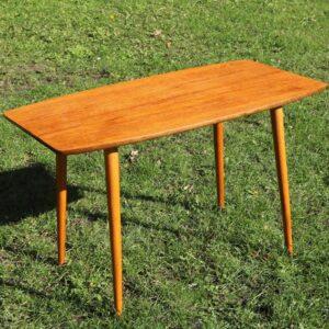 Teak sofabord slanke ben 94,5x50,5x57 cm H