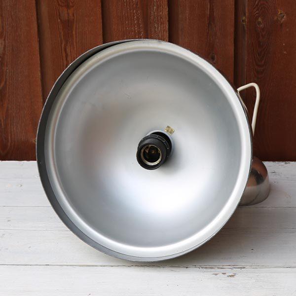 Aluminium retro loftlampe - indersiden