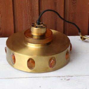 Orrefors loftlampe - messinglook - Ø25x16 cm