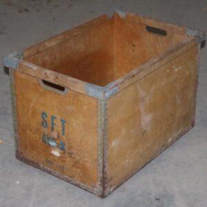 Transportkasse SFT, patineret, 63x43x43 cm
