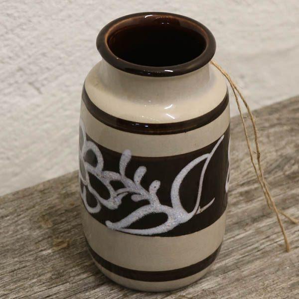 West Germany beige keramikvase nr 231 Ø8x15 cm