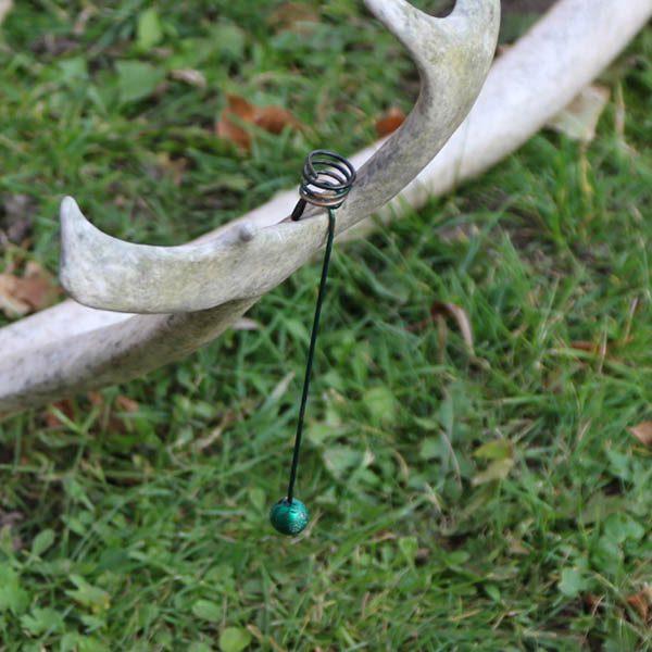Juletræslysholder grøn 17 cm H