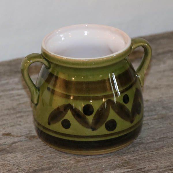 Keramikkrukke grønt GDR 632 Ø07,5x9 cm