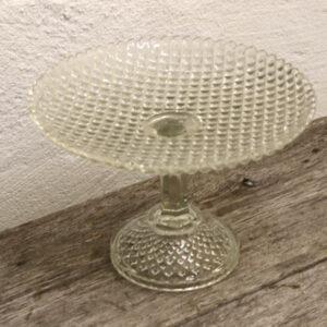 Presset glas kageopsats Ø26 x 18 cm