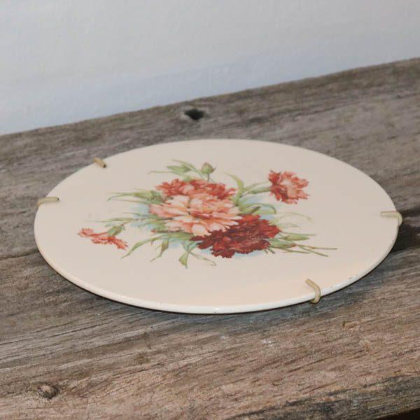 Fajance platte i pastel farver Ø13 cm