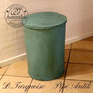 Tønde Dark Turquoise Autentico Ø46x69 cm irret look